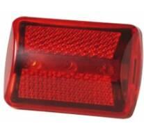 Kerékpárlámpa, LED-es, piros