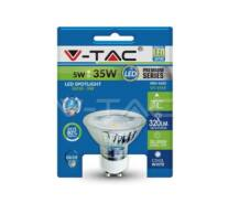 LED Spotlight - 5W GU10 Glass Cup With Lens Warm 4500К Blister