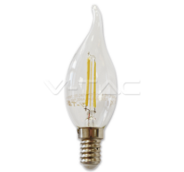 LED Bulb - 2W Filament E14 Candle Tail 3000K