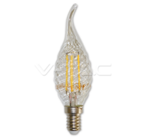 LED Bulb - 4W Filament  E14 Twist Candle Tail 3000K