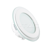 6W LED Panel Downlight Glass - Round 3000K