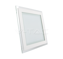 12W LED Panel Downlight Glass - Square 6000K