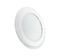 12W LED Panel Downlight Glass - Round 6000K