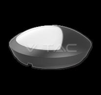 12W LED Half Round Ceiling Lamp Black Body IP66 4500K