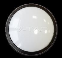12W LED Full Round Ceiling Lamp Black Body IP66 4500K