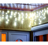 LED-es jégcsap fényfüggöny, 8 programos, 20m, IP44, 230V