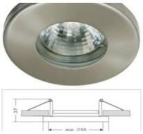 Led beépíthető spot lámpatestt alumíniumból, fix, Mr16/GU5.3 foglalattal csomagolva, IP44, rozsdamentes!