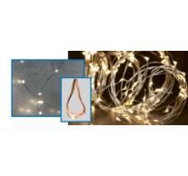 LED-s izzósor-csokor, mikroszálas, 6 ágú, 1,9m, IP44, 230V