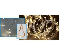 LED-s izzósor-csokor, mikroszálas, 10 ágú, 2,4m, IP44, 230V