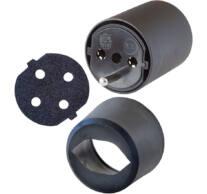 Fix-adapter DE-rol CH-ra fekete 230V 3-pólusú