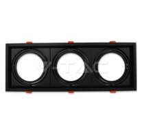 3xAR111 Fitting Black