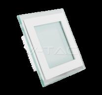 6W LED Panel Downlight Glass - Square 3000K