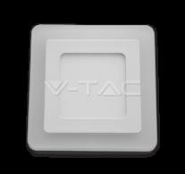 6W+2W LED Surface Panel Downlight - Square 4500K                        EMC+CR80