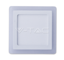 12W+3W LED Surface Panel Downlight - Square 4500K                        EMC+CR80