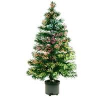 Világító fenyőfa, optikai szálas, színes, 120cm, 230V