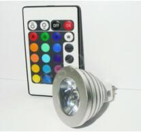 Led spot MR16 1x3W power RGB +távirányító