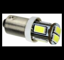 BA9S helyzetjelző,index világítás, 6 led, 5630 chip,  165 Lumen, 3W, hideg fehér