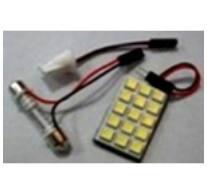 Autós panel világítás, 5050 chip, 15 led, 207 Lumen, 2,7W, hideg fehér 36x22mm