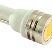 T10 helyzetjelző,index világítás, 1 led, 40 Lumen, 1W, hideg fehér