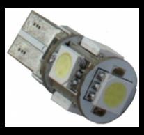 T10 helyzetjelző,index világítás, canbus 5050 chip, 5 led, 115 Lumen, 1,5W, sárga
