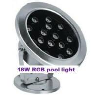 Víz alá beépíthető 18W rgb 45° medence lámpa
