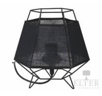 TK Lighting Cristal Black asztali lámpa