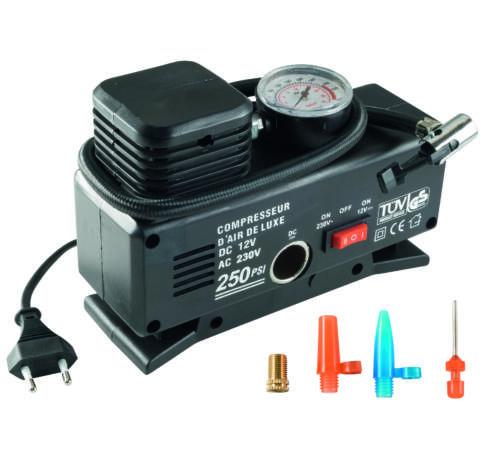 Autós kompresszor, 12V+230V