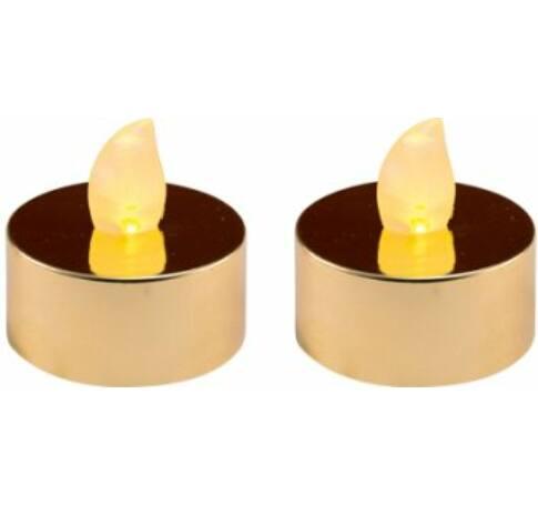 LED-es teamécses szett, fényes arany