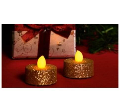 LED-es teamécses szett, arany glitter