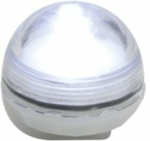 LED-es vízálló mécses set, 12 db, 1 hidegfehér LED