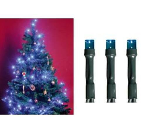 LED-es beltéri fényfüzér, kék, 200 LED