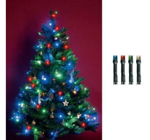 LED-es beltéri fényfüzér, színes, 200 LED