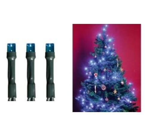 LED-es beltéri fényfüzér, kék, 50 LED