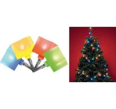 LED-es kocka fényfüzér, multicolor, 8 pr.